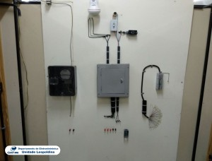 Fotografia do Laboratório de Instalações Elétricas